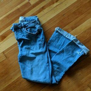 Free people stretchy boyfriend bootcut jeans
